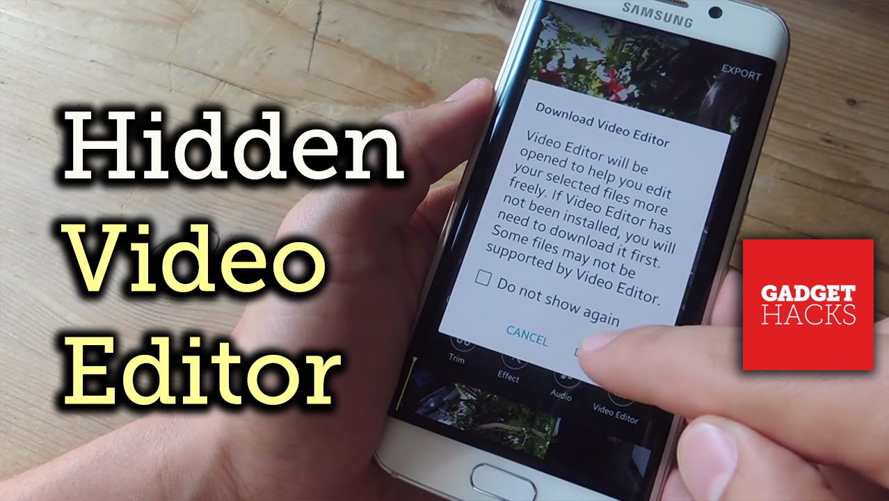 Use Samsung's Hidden Video Editor On Any Galaxy Device [howto] How To Film  And Youtubetomp3withoutqualityloss How To Convert Youtube Videos To