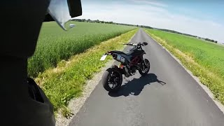 5. Ducati Hypermotard 821 Termignoni Onboard Top Speed, DTC and Wheelies