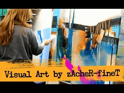 Abstract acrylic Painting by zAcheR-fineT – peinture abstraite , abstrakte Malerei