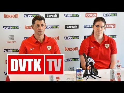 Sajtótájékoztató a Vasas és a Sopron mérkőzés előtt