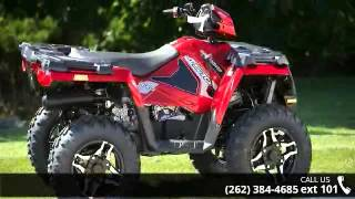 1. 2015 Polaris Sportsman 570 SP EPS Sunset Red  - Action Po...