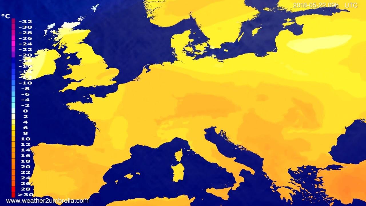 Temperature forecast Europe 2018-05-20