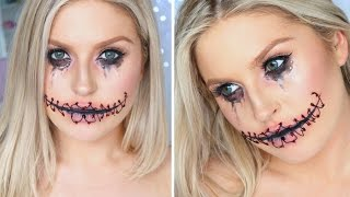 Easy Halloween Stitched Up Mouth ♡ Using Only Makeup!