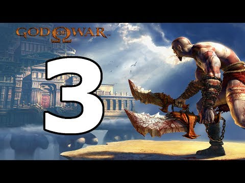 God Of War 1 Walkthrough Part 3 - No Commentary Playthrough (PS3)