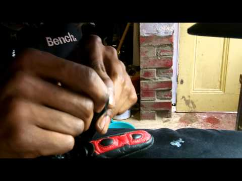 how to patch leather gloves