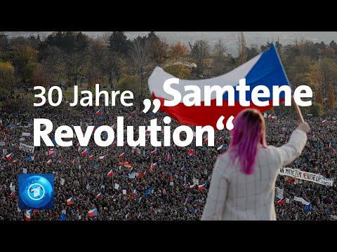 30 Jahre »Samtene Revolution«: Proteste gegen die Reg ...