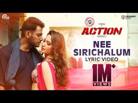 Action - Nee Sirichalum Lyric Video