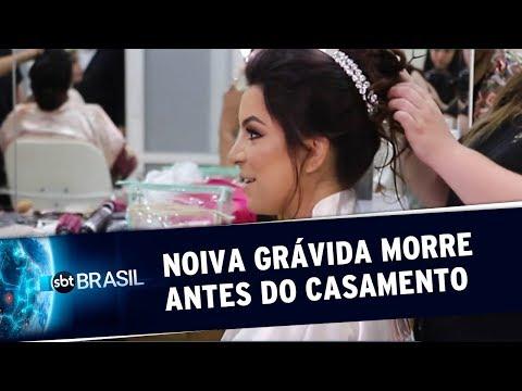Noiva que estava grávida morre antes de entrar na igreja   SBT Brasil (16/09/19)