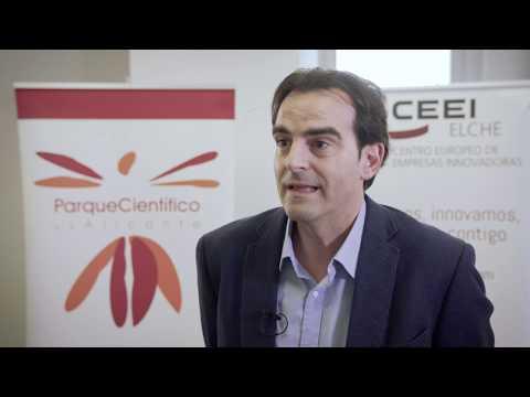 Jorge Ballesta de Hidraqua en el HUB de Innovación Abierta.[;;;][;;;]