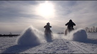 5. Skidoo FreeRide vs 800 Rev vs 700 Mod sled, Lotsa BRAAAAAAAAP! inside here!