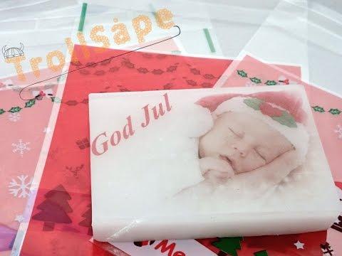 """Såpe med bilde """"God Jul"""""""