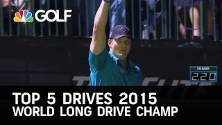 Top 5 drives from the 2015 World Long Drive Championship | Golf Channel