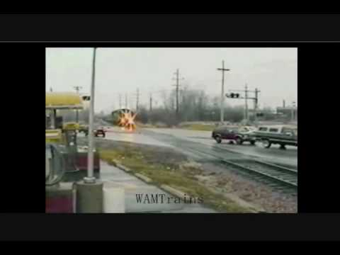Download Destroyed in Seconds - Railroad Crossing Carnage HD Mp4 3GP Video and MP3
