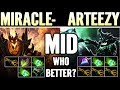 Sf Miracle Vs Arteezy Od  Mid Fights Who Win Dota 2 Pro Rtz Vs Miracle