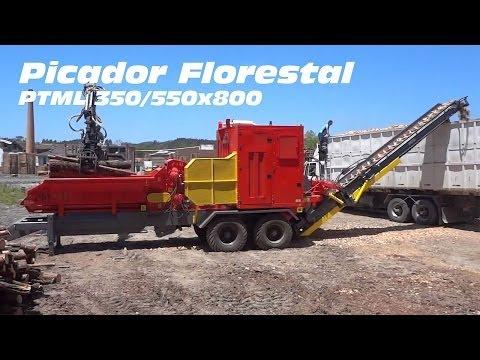 Picador Florestal a Tambor PTML 350/550 x 800 - alta capacidade de produção