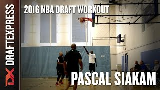 Pascal Siakam 2016 Pre-Draft Workout - DraftExpress Exclusive