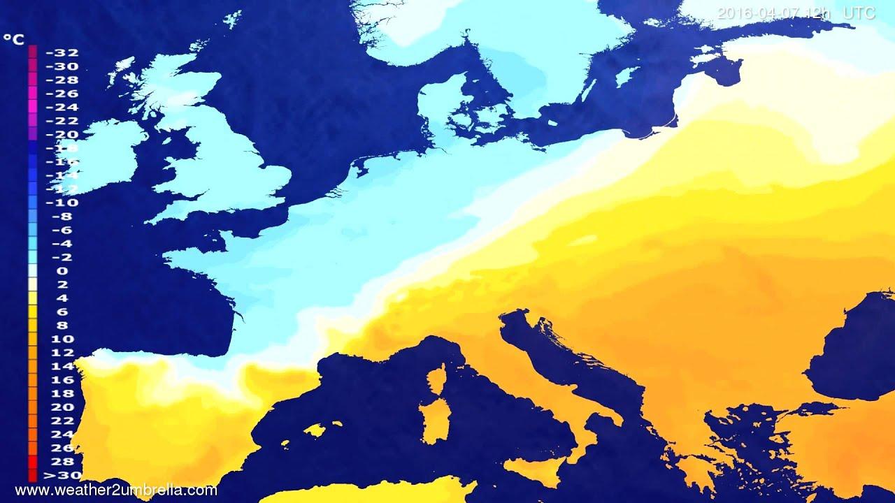 Temperature forecast Europe 2016-04-05
