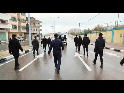 إجراءات مركز شرطة الشاطئ في تنفيذ الإغلاق وحظر التجوال يومي الجمعة والسبت
