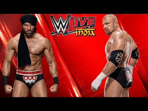 Jinder Mahal VS. Triple H - WWE India Liveshow New Delhi | WWE 2k18 Gameplay