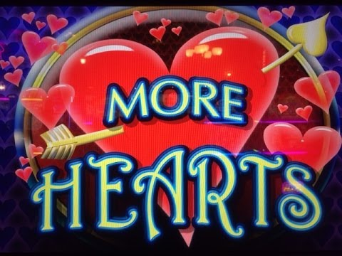 MORE HEARTS : MAX BET – BIG WIN – ARISTOCRAT SLOT MACHINE