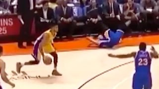 Steph Curry Gets Crossed Up By D'Angelo Russell by Obsev Sports