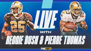 LIVE with Former Saints RB Duo Reggie Bush and Pierre Thomas | FOX NFL by FOX Sports