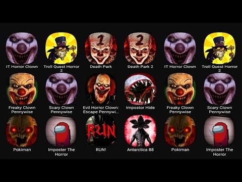 IT Horror Clown, Troll Quest Horror 2, Death Park, Death Park 2, Freaky Clown Pennywise, Scary Clown
