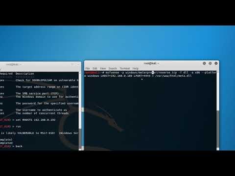 Exploiting MS17-010 windows 2003 server