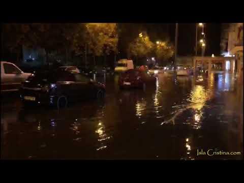 Destrozos de la Borrasca Bárbara a su paso por Isla Cristina