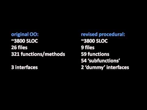 Object-Oriented Programming is Garbage: 3800 SLOC example