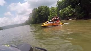 9. 3 people on Seadoo GTI 130