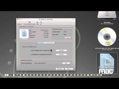 Quicktime X - Tutorial de Cuadernos Mac en el que se detallan las funciones y posibilidades de QuickTime X, el reproductor multimedia de Apple.