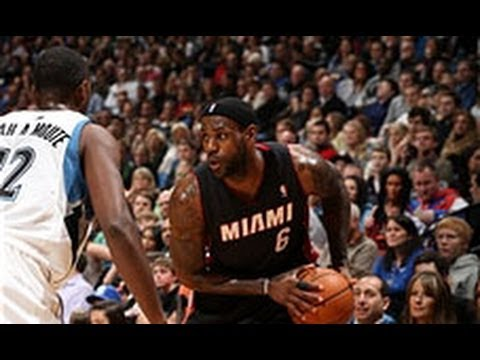 james - LeBron had 21 points, 14 rebounds, and 8 assists to help the Heat beat the Timberwolves 103-82. Vist nba.com/video for more highlights. About the NBA: The NB...
