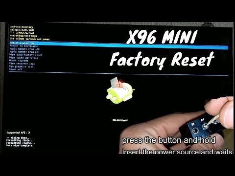 How to Reset and Restore X96 mini Tv Box Android 6.0.1 Smart BOX TV 2GB RAM 16GB ROM