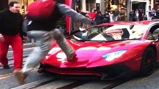 Video Il n'aurait jamais dû sauter sur la Lamborghini... ⚆ _ ⚆ MP3, 3GP, MP4, WEBM, AVI, FLV November 2017