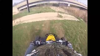 10. Can Am DS 450 XC GoPro Burleson Texas Trail Ride Part 1