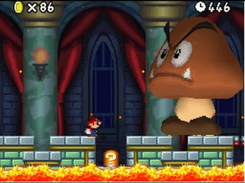New Super Mario Bros. (DS) 100% Walkthrough - World 4 (All Star Coins & Secret Exits)