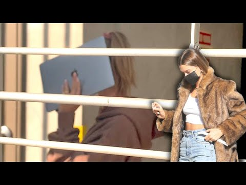 Hailey Baldwin Ditches Her Controversial Fur Coat As She Attends WeHo Photo Shoot