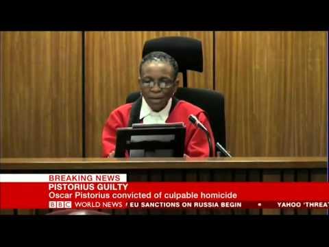 Oscar Pistorius verdict live coverage on BBC News from Pretoria