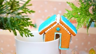 Имбирное печенье ☆ Маленькие домики на кружку