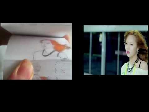 Gangnam Style vẽ bằng tay trên giấy cực đỉnh - so sánh với bản chính