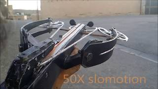 homemade RDT crossbow shooting slow motion