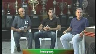 duas reportagens em sequencia do show do intervalo sobre o fla campeão da libertadores de 1981 e como foi o jogo contra o atletico-mineiro naquela época.