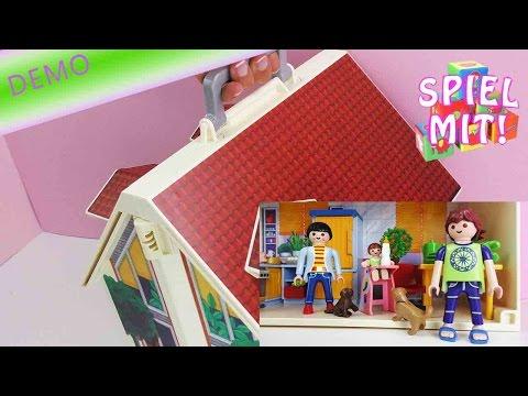 Playmobil Puppenhaus deutsch - Dieses Puppenhaus kann man mitnehmen!