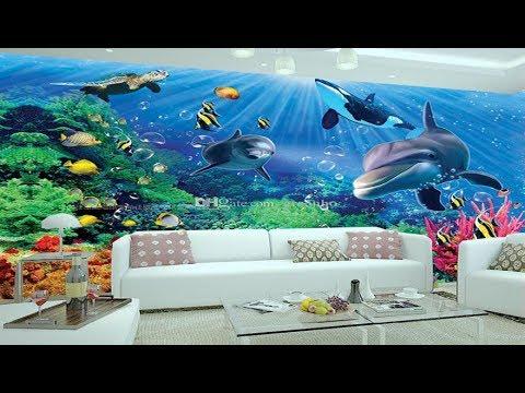 3d wallpaper for rooms 3d wall sticker, 3d ocean wallpaper dolphins ceiling 3d wall murals wallpaper