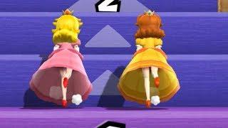 Mario Party 9 - Step It Up - Peach vs Daisy Gameplay | Cartoons Mee