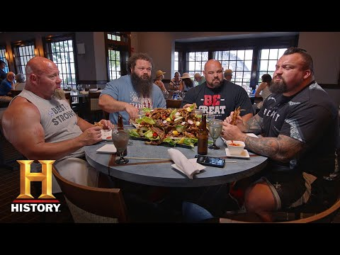 THE STRONGEST MEN IN HISTORY'S 10,000 CALORIE DIET | History