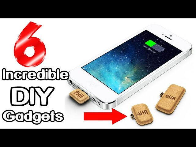 6 incredible diy gadgets you can make at home l Best gadgets for home