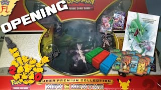 Opening a Pokemon TCG Mew and Mewtwo Super Premium Collection Box- THE BEST 20TH ANNIVERSARY PARTY! by Flammable Lizard