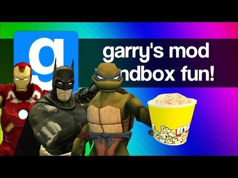 Gmod Sandbox Funny Moments – Minecraft Steve, Terminator, Bane, Player Resizer (Garry's Mod Fun)